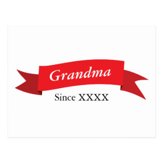 Grandma Since XXXX Postcard