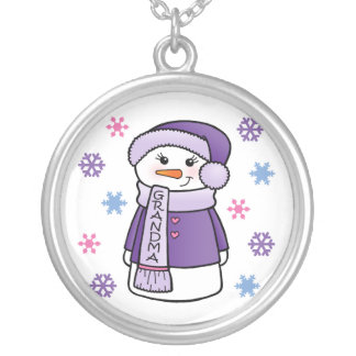 Grandma Snowman Necklace