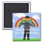 Grandma Thank-you God  Magnet