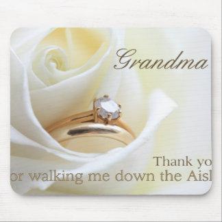 Grandma   Thanks for Walking me down Aisle Mouse Mat