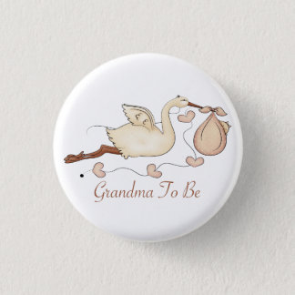 Grandma To Be 3 Cm Round Badge