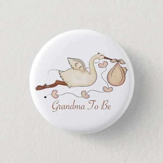 Grandma To Be 3 Cm Round Badge