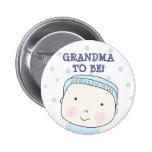 Grandma To Be!  Baby Boy Button