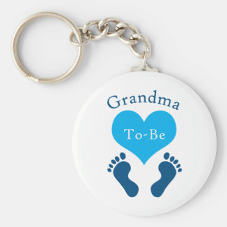 Grandma To-Be Basic Round Button Key Ring