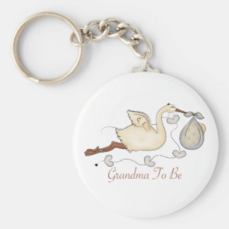 Grandma To Be Basic Round Button Key Ring