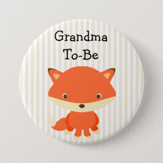 Grandma To Be Button Woodlands Theme