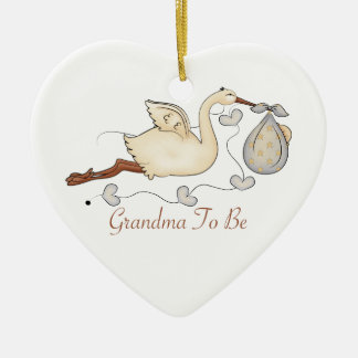 Grandma To Be Ceramic Heart Decoration
