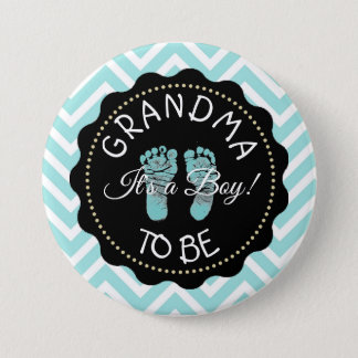 Grandma to be Chevron Baby Shower button