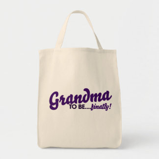 Grandma to be finally tote bag