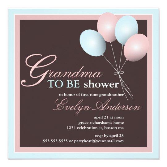 Grandma to be First Grandchild Baby Shower Card