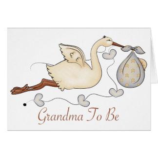 Grandma To Be Greeting Card