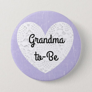 Grandma-To-Be Lavender Button for Baby Shower
