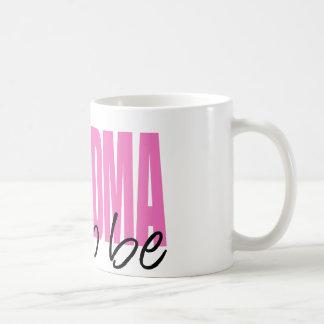 Grandma To Be (Pink Block Font) Basic White Mug