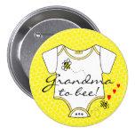 Grandma To Bee 7.5 Cm Round Badge