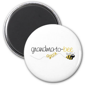 Grandma to Bee Again T-shirt 6 Cm Round Magnet