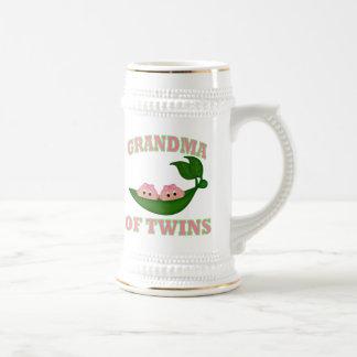 Grandma to Twin Girls Beer Steins