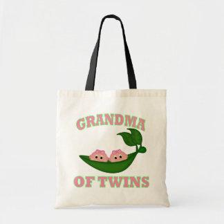 Grandma to Twin Girls Budget Tote Bag