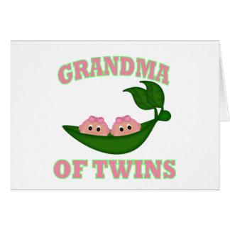 Grandma to Twin Girls Greeting Card