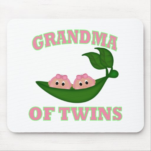 Grandma to Twin Girls Mousepads