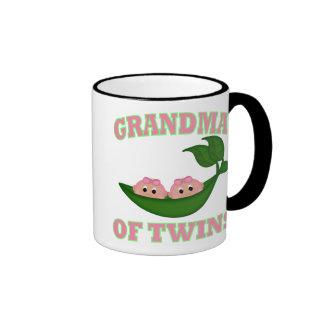 Grandma to Twin Girls Ringer Coffee Mug
