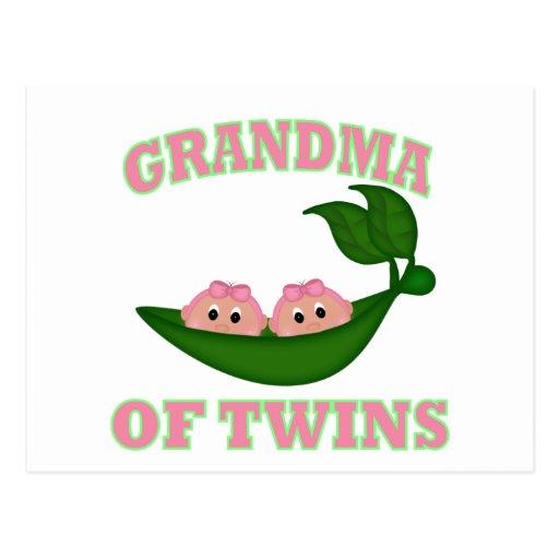 Grandma to Twin Girls Post Card