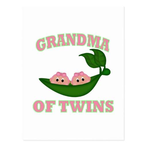 Grandma to Twin Girls Post Cards