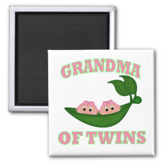 Grandma to Twin Girls Square Magnet