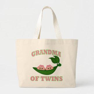 Grandma to Twin Girls Canvas Bags