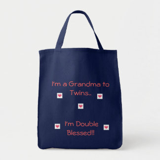 Grandma to Twins/Double Blessed Tote Bag