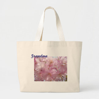 Grandma tote bag gifts Pink Tree Flower Blossoms