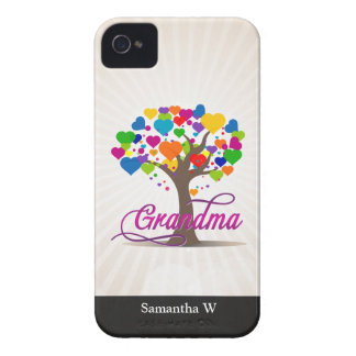 Grandma Tree of Life Hearts iPhone 4 Case-Mate Case