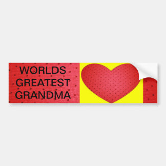 Grandma & Valentine Bumper Sticker