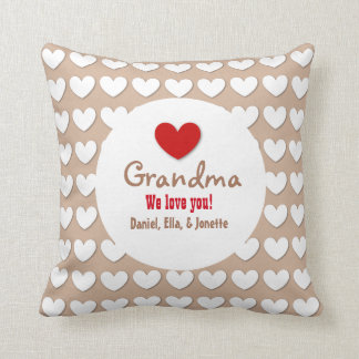 GRANDMA We Love You with Hearts C07A Cushion