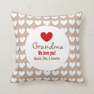 GRANDMA We Love You with Hearts C07A Cushion