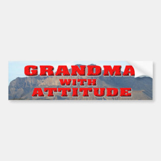 Grandma With Attitude Bumper Sticker