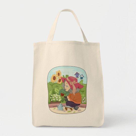 Grandma working in her garden tote bag