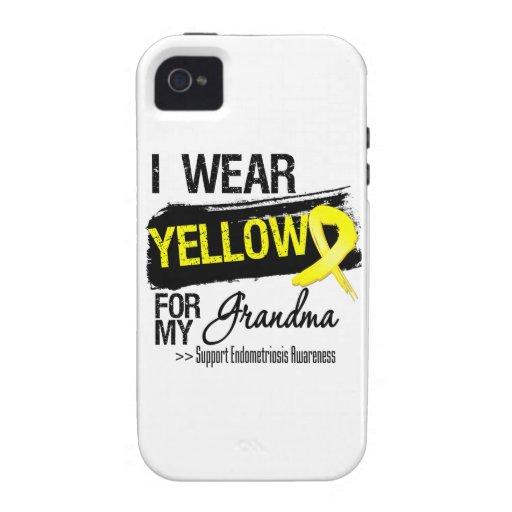 Grandma Yellow Ribbon Endometriosis Case-Mate iPhone 4 Cases