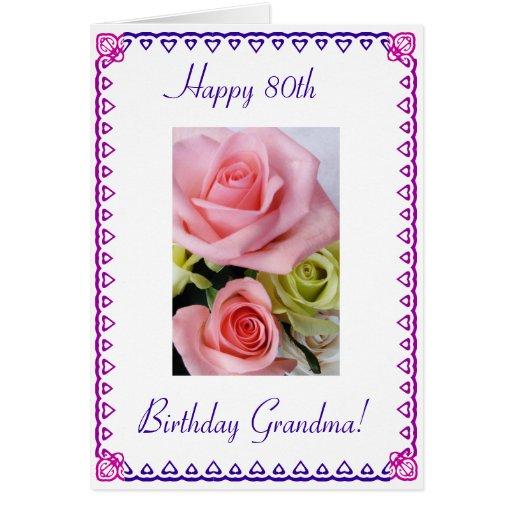 Grandma's 80th Birthday Card