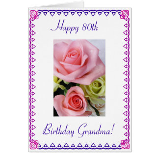 Grandma's 80th Birthday Greeting Card