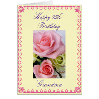 Grandma's 95th Birthday Greeting Card