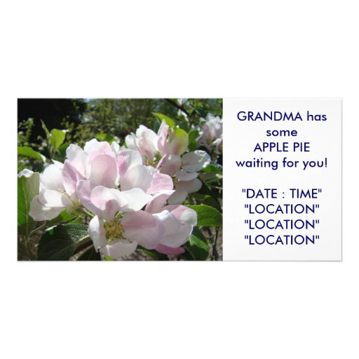 GRANDMA'S Apple Pie Card Announcement Invitations Photo Card