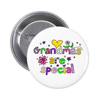 Grandmas are Special 6 Cm Round Badge
