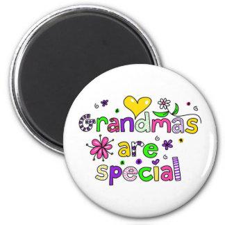 Grandmas are Special 6 Cm Round Magnet