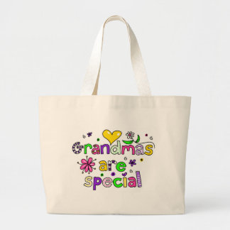 Grandmas are Special Large Tote Bag