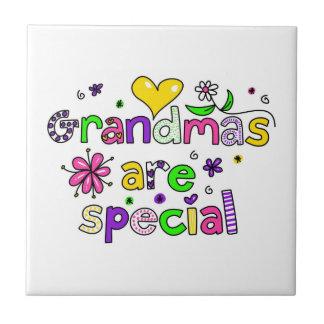 Grandmas Are Special Small Square Tile