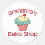 Grandma's bake shop classic round sticker