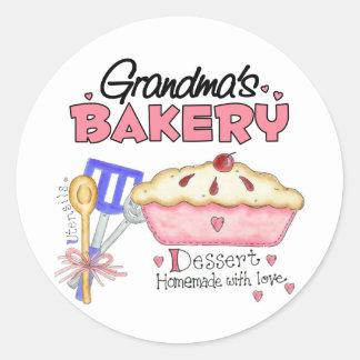 Grandma's Bakery Gift Classic Round Sticker
