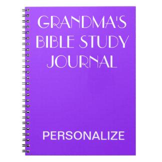 GRANDMA'S Bible Study Journal Purple Personalize Notebook