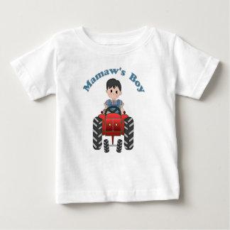 Grandmas Boy Tractor Baby T-Shirt