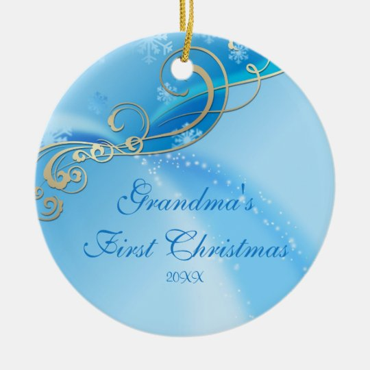 Grandma's First Christmas Snowflake Ornament